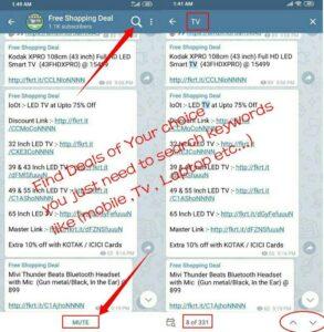 Shopping Telegram channel screenshots