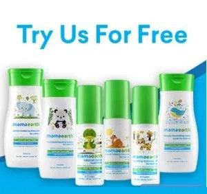 Mamaearth Free samples Banner