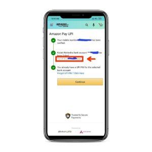 Amazon Pay UPI Register Step 05