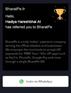 BharatPe App Refer and Earn 08