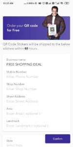 How to Order Free QR code and Stand on BharatPe App 02
