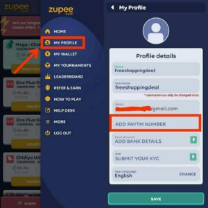 Zupee Gold Referral code 06