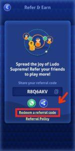 Ludo Supreme Referral Code 04