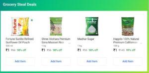 Flipkart Supermart Offer Rs.1 Deal