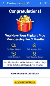 Flipkart Plus Membership Free 003
