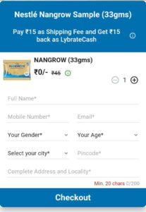 Nestle Nangrow Sample