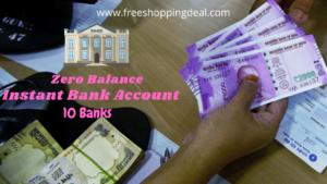 Zero Balance Bank Account