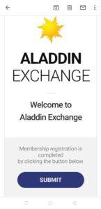 Aladdin Exchange Refer and Earn