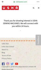 Usha Sew Free Demo