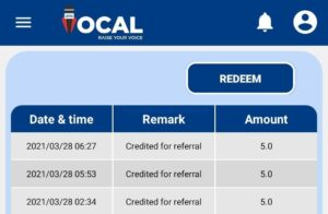 Local Vocal App Withdraw Money Process 003