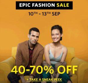 Myntra Epic Fashion Sale