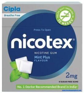 Nicotex Nicotine Gum Free Sample