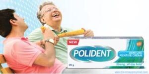 Polident Denture Fixative Free Sample 01