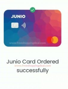 Junio Card Order Process A5